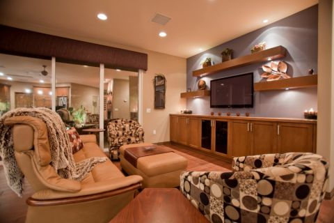质感客厅沙发实景图