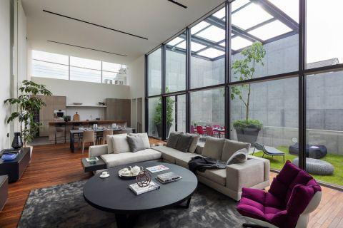楼房128平米现代风格装饰实景图