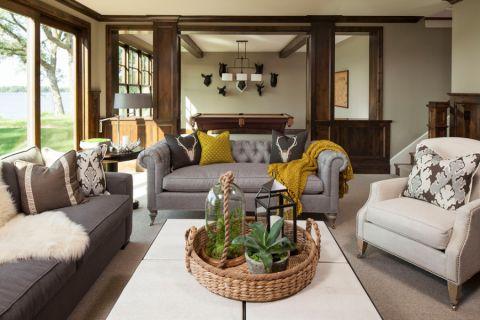 美式风格二居室98平米装修图片