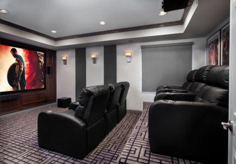 现代地下室沙发地毯案例图片