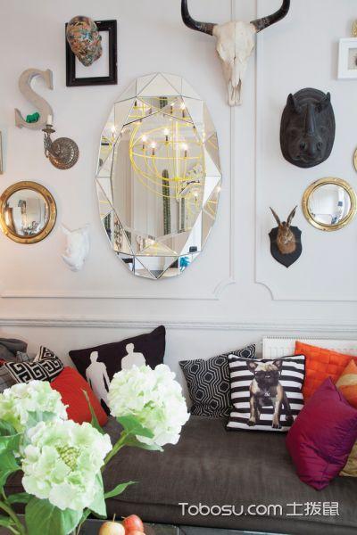 客厅混搭风格效果图大全2017图片_土拨鼠现代个性客厅混搭风格装修设计效果图欣赏