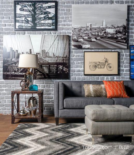 客厅混搭风格效果图大全2017图片_土拨鼠大气格调客厅混搭风格装修设计效果图欣赏