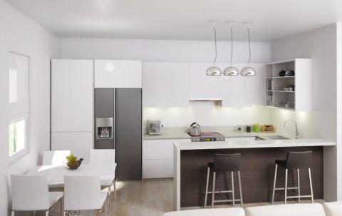 现代风格四居室135平米装潢图