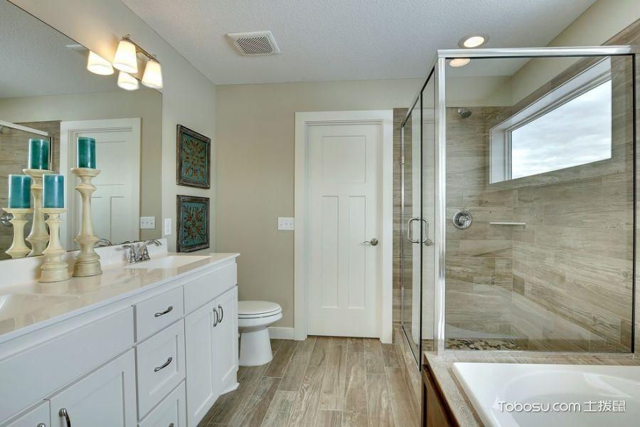 卫生间美式风格效果图大全2017图片_土拨鼠时尚质朴卫生间美式风格装修设计效果图欣赏