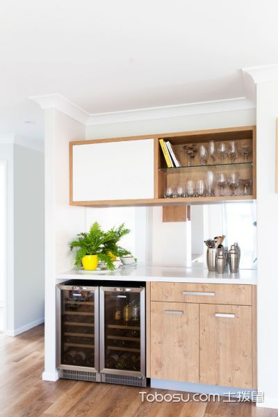 厨房北欧风格效果图大全2017图片_土拨鼠优雅质感厨房北欧风格装修设计效果图欣赏
