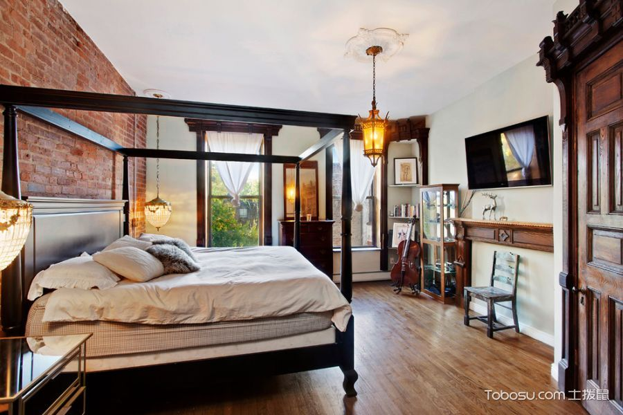 卧室混搭风格效果图大全2017图片_土拨鼠完美优雅卧室混搭风格装修设计效果图欣赏