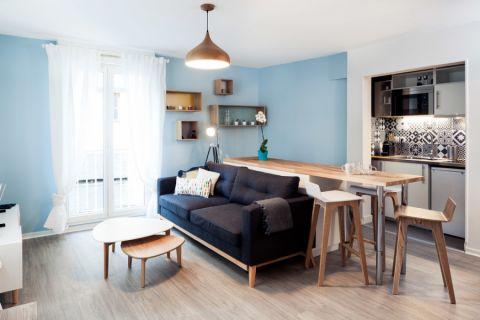 北欧风格公寓101平米装修图片