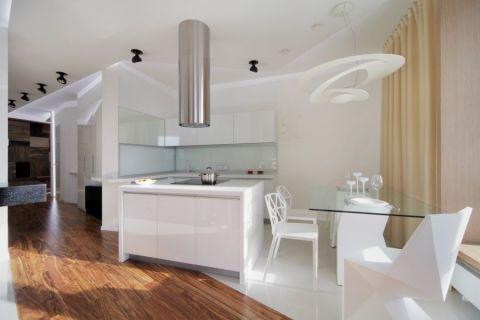 典雅现代白色厨房岛台装饰图片