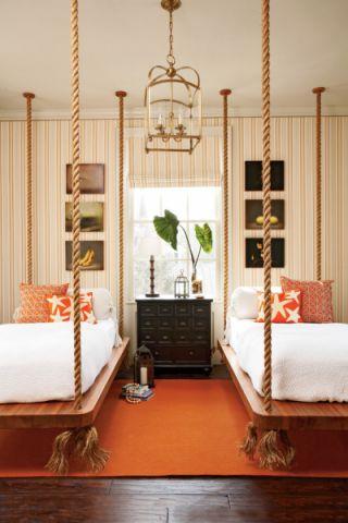 美式卧室床设计效果图