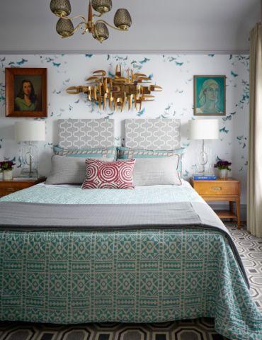 卧室绿色床案例图