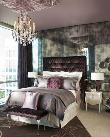 卧室背景墙混搭装潢效果图