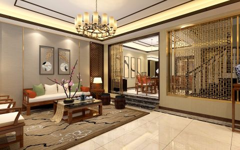 2020新中式150平米效果图 2020新中式别墅装饰设计