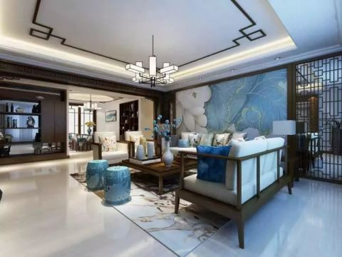 180平现代中式风格大四居装修效果图