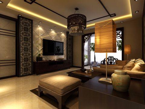 138平新中式风格大三居装修效果图