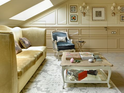 混搭风格二居室89平米装修图片