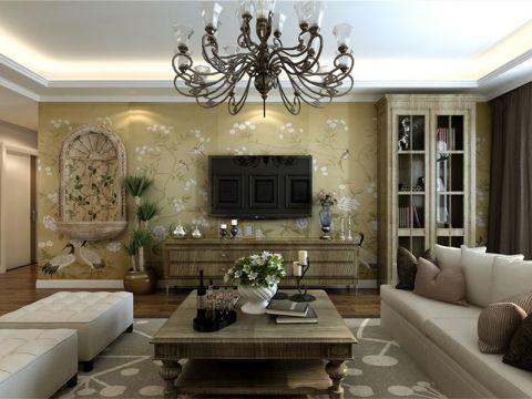 125平美式乡村风格三居室装修效果图