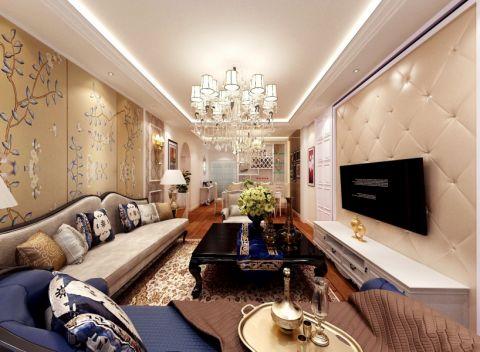 中海临安府135平三居室简欧风格设计效果图