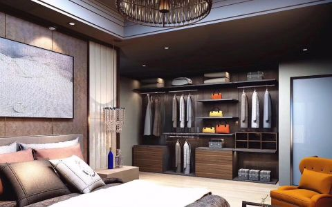 卧室灰色榻榻米现代简约风格装饰图片