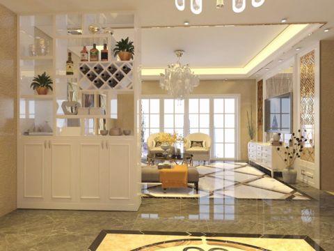 客厅米色隔断欧式风格装修效果图