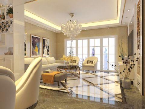 客厅背景墙欧式室内装修设计