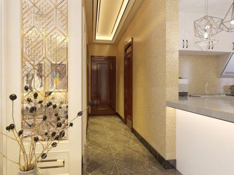 欧式客厅走廊装饰实景图