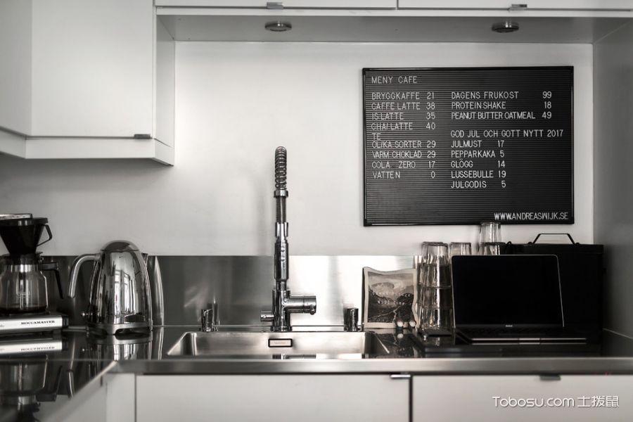 厨房北欧风格效果图大全2017图片_土拨鼠美好摩登厨房北欧风格装修设计效果图欣赏