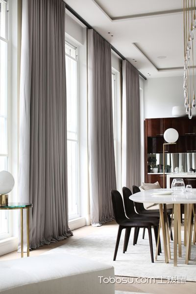 餐厅现代风格效果图大全2017图片_土拨鼠温馨唯美餐厅现代风格装修设计效果图欣赏