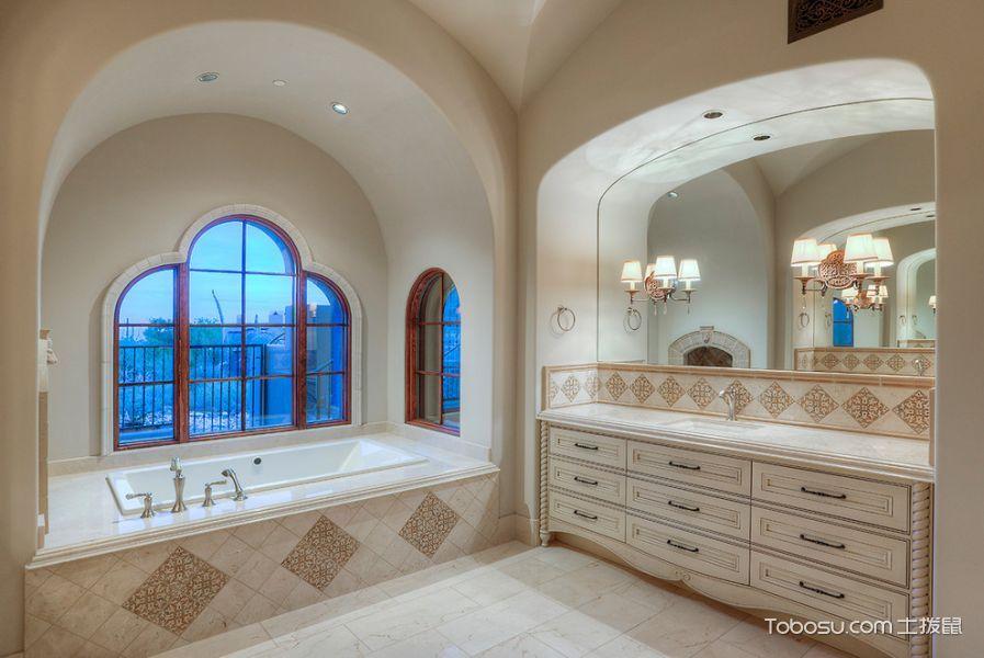 浴室地中海风格效果图大全2017图片_土拨鼠极致淡雅浴室地中海风格装修设计效果图欣赏