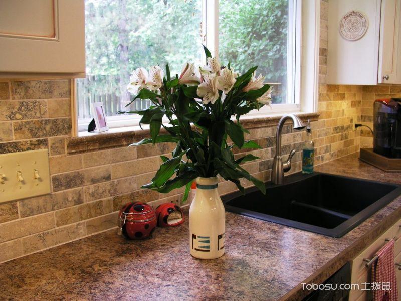 厨房美式风格效果图大全2017图片_土拨鼠奢华质感厨房美式风格装修设计效果图欣赏