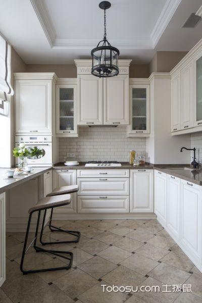 厨房美式风格效果图大全2017图片_土拨鼠清新摩登厨房美式风格装修设计效果图欣赏