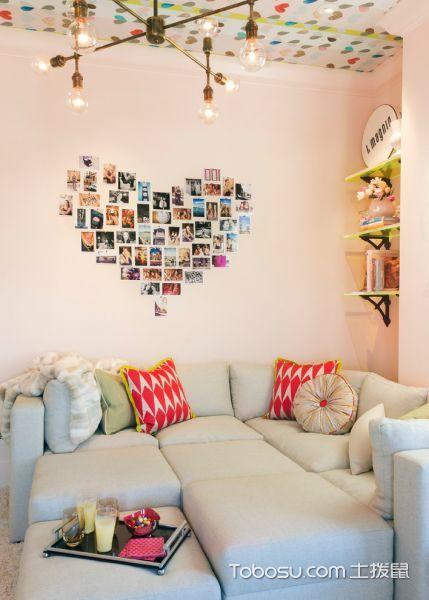 客厅现代风格效果图大全2017图片_土拨鼠潮流优雅客厅现代风格装修设计效果图欣赏