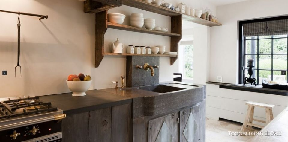 厨房地中海风格效果图大全2017图片_土拨鼠温暖迷人厨房地中海风格装修设计效果图欣赏