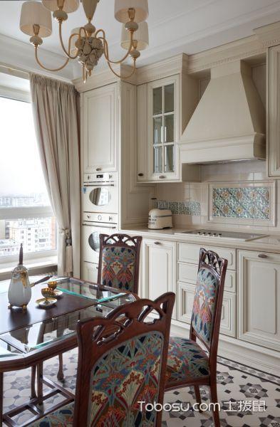 厨房美式风格效果图大全2017图片_土拨鼠清新创意厨房美式风格装修设计效果图欣赏