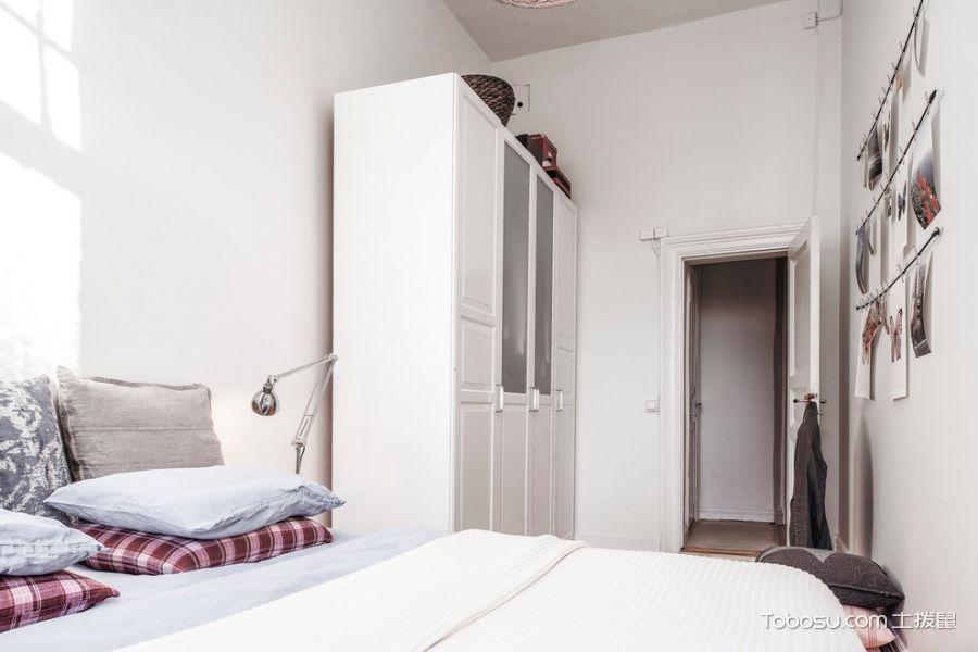 卧室北欧风格效果图大全2017图片_土拨鼠简约个性卧室北欧风格装修设计效果图欣赏