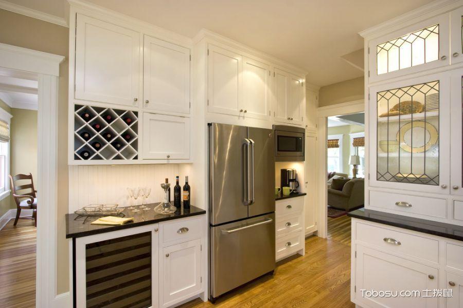 厨房美式风格效果图大全2017图片_土拨鼠奢华风雅厨房美式风格装修设计效果图欣赏