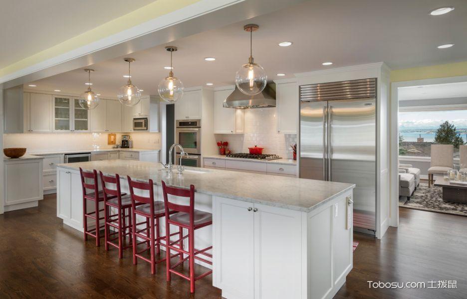 厨房白色吧台现代风格装修效果图