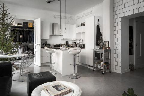 北欧风格公寓100平米装修图片