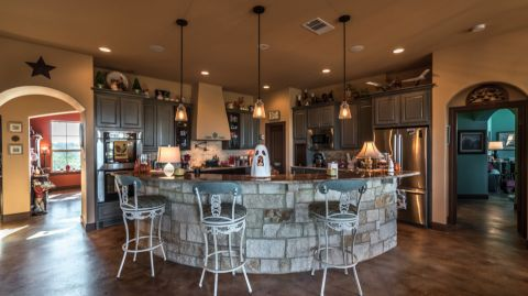 厨房地中海风格效果图大全2017图片_土拨鼠简约清新厨房地中海风格装修设计效果图欣赏
