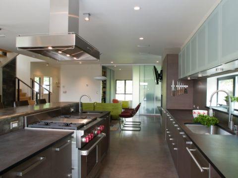 厨房现代风格效果图大全2017图片_土拨鼠美好富丽厨房现代风格装修设计效果图欣赏