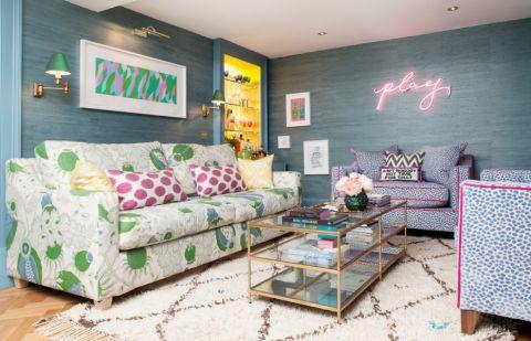 60平米一居室混搭风格装修图片