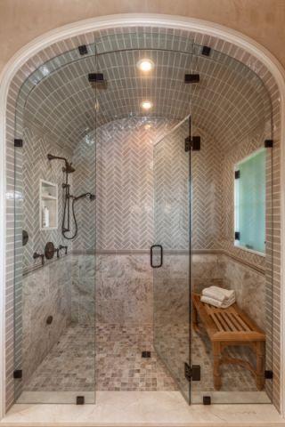 浴室灰色背景墙图片