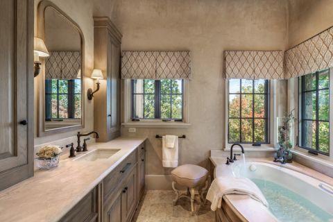 地中海浴室浴缸装修美图