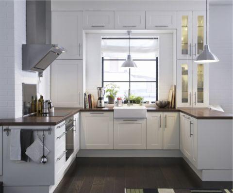 厨房白色橱柜现代风格效果图
