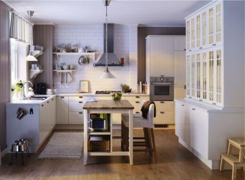 厨房白色背景墙现代风格装修设计图片