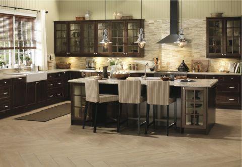 厨房米色背景墙现代风格装饰设计图片