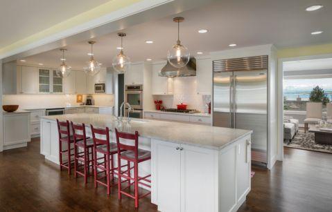 厨房白色吧台案例图片
