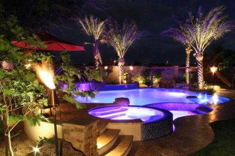 花园米色楼梯地中海风格装潢图片