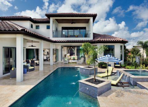 172平米套房地中海风格装饰实景图片