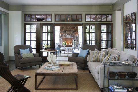 109平米二居室美式风格设计图