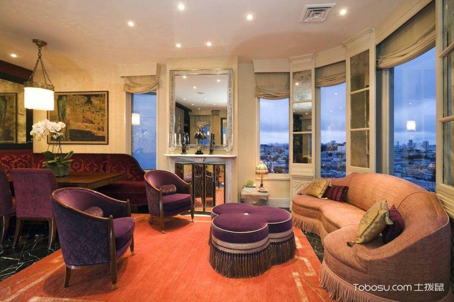 客厅美式风格效果图大全2017图片_土拨鼠唯美时尚客厅美式风格装修设计效果图欣赏